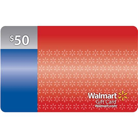 Buy Gift Cards With Walmart Credit Card - 50 walmart gift card walmart com