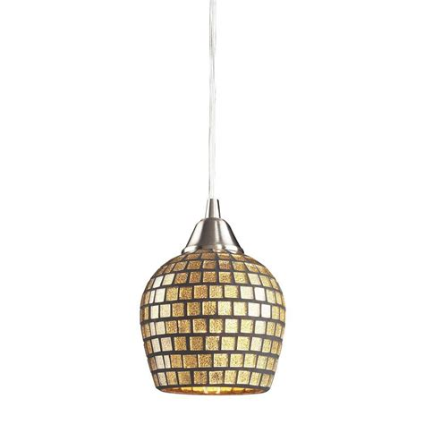 mosaic glass pendant light titan lighting fusion 1 light satin nickel pendant with