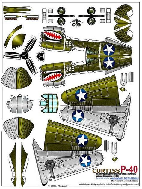 3d paper plane templates and crafting curtis p 40 paper plane
