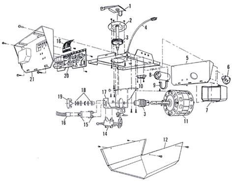 Sears Craftsman 1 2 Hp Garage Door Opener Replacement Craftsman Garage Door Parts List