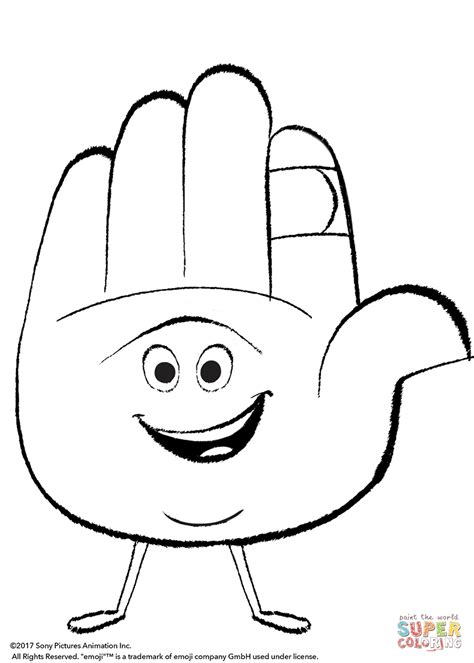 coloring pages emoji movie hi 5 from emoji movie coloring page free printable