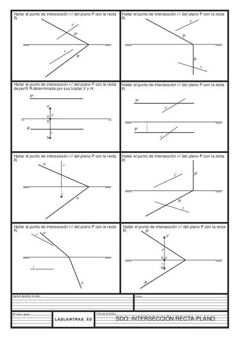puntos rectas y planos 1 ejercicios intersecciones