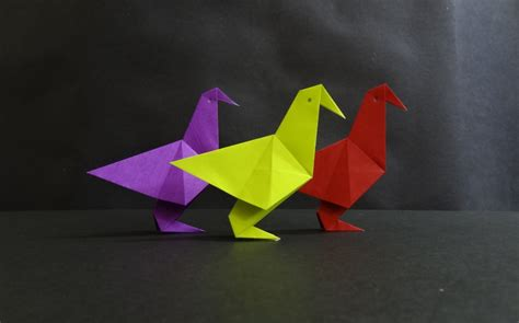 How To Fold A Paper Bird Easy - origami bird tutorial how to fold a simple paper bird