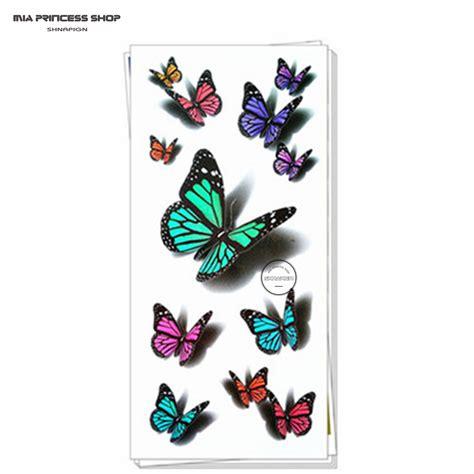 tattoo flash stickers amazing butterfly 3d temporary tattoo body art flash