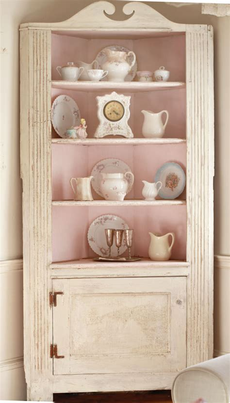shabby chic corner cabinet pink shabby cabinet vintage furniture shabby chic
