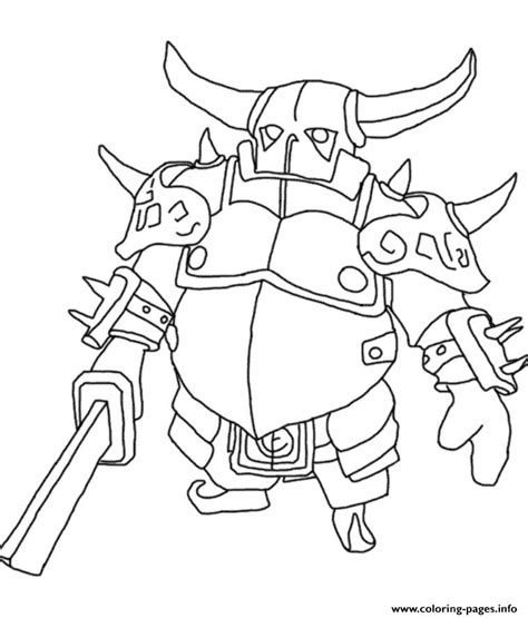 pekka clash of clans coloring pages printable