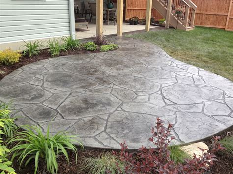 arizona flagstone sted concrete patio concrete pinterest sted concrete concrete