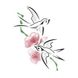 tatuaggi con rondini e fiori tatuaggio di rondini e fiori rinascita