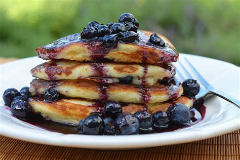 blueberry pancake recipe blueberry buttermilk pancakes with blueberry maple syrup