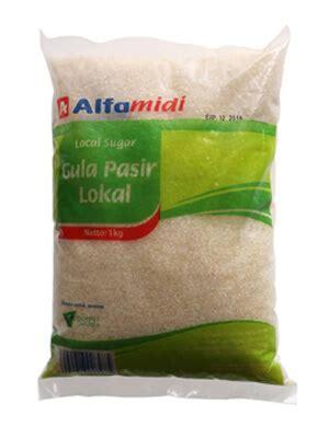 Alfamidi Gula Pasir Lokal 1kg kemasan gula pasir lokal alfamidi dikemas