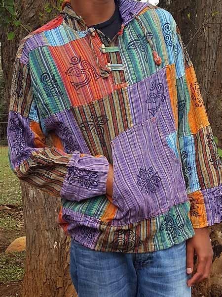 Himalayan Handmades - hippie pullover baja style patch herrenpullover aus nepal