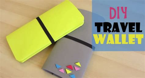 How Do You Make A Wallet Out Of Paper - how to make a lame diy travel wallet that will keep