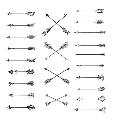 arrow pattern svg doodle tribal arrows clipart 23 vector arrows hand