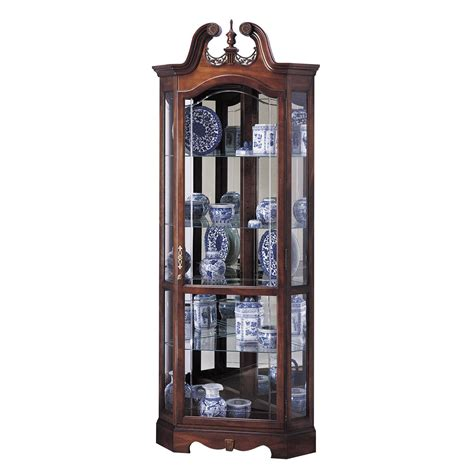 howard miller cherry corner collectible curio cabinet