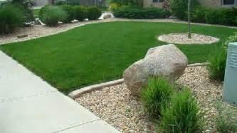 landscape design ideas with pebbles