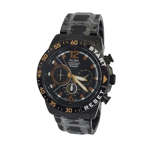 Jam Tangan Alba Untuk Cowok jual alba 161091 chronograph jam tangan pria hitam harga kualitas terjamin blibli