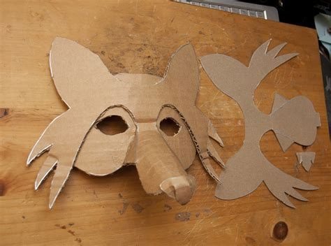 How To Make A Fox Mask Out Of Paper - simlpe fox mask 3 flickr photo