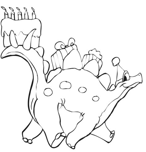 happy birthday dinosaur coloring page happy 1st birthday coloring pages