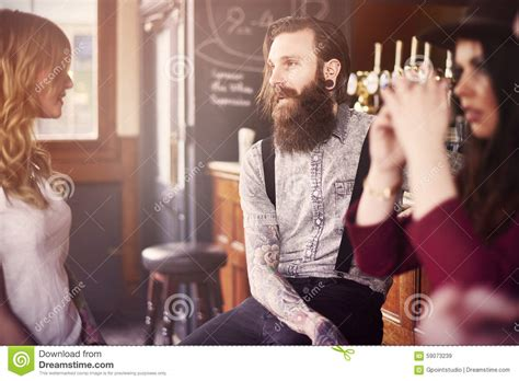 Chat Bar Top Friends by Times In Bar Stock Photo Image 59073239