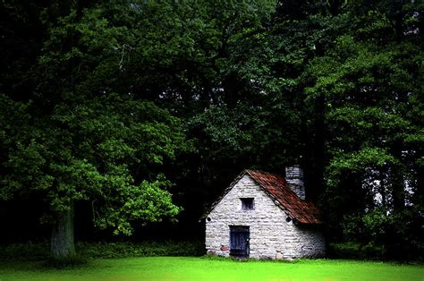 A Cottage In The Woods by Cottage In The Woods Photograph By Fabrizio Troiani