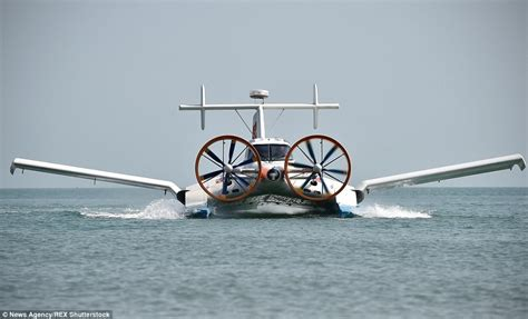 airboat with wings chinese cyg 11 craft that can fly or float on a cushion