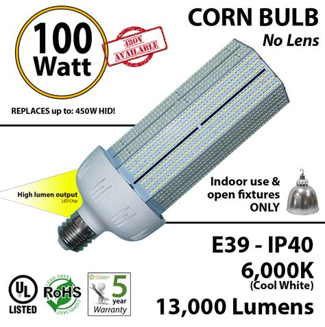 450 watt halogen hps equivalent 100w led light bulb