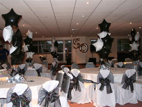 white themed events party balloon displays seventh heaven