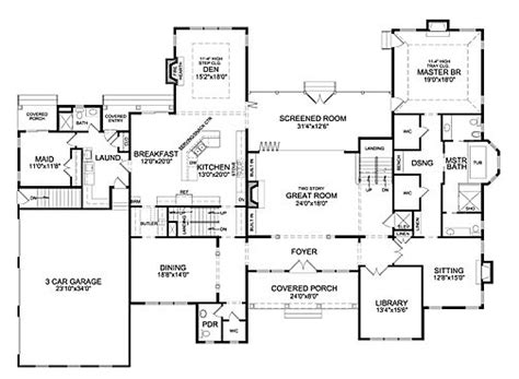 6 bedroom house floor plans 535 best house plans images on architecture