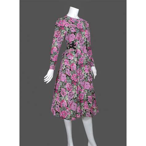 Nasjmi Flowery Peplum Maxi Dress 1980s dress 80s floral dress puff from plume