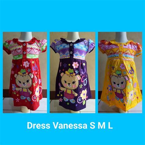 Baju Anak Murah Dress 276 S L grosir baju dress s m l karakter anak perempuan