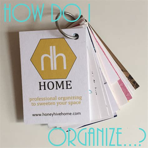 How To Organize Business Cards how do i organize business cards honey hive home