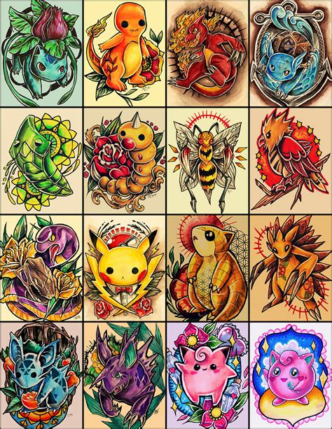 pokemon tattoos designs on behance
