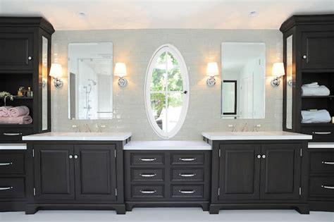 Nickel Bathroom Lights Black Vanity Transitional Bathroom Kelly Baron