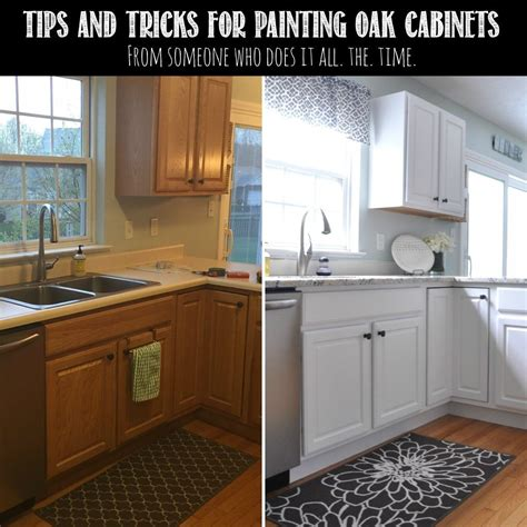painting oak cabinets white before and after tips tricks for painting oak cabinets painted oak