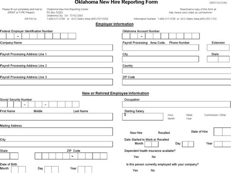 new hire form template sle new hire processing forms free premium