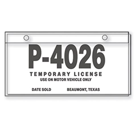 New Ca Law Requires Temporary Plates For Newly Purchased Cars Streetsblog California Temporary Tag Template