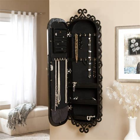 hanging mirror jewelry armoire wall scroll locking jewelry armoire home decor