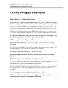 Catering Assistant Manager Sle Resume by 43 Creative Catering Sales Manager Resume Sles For Seekers Vntask