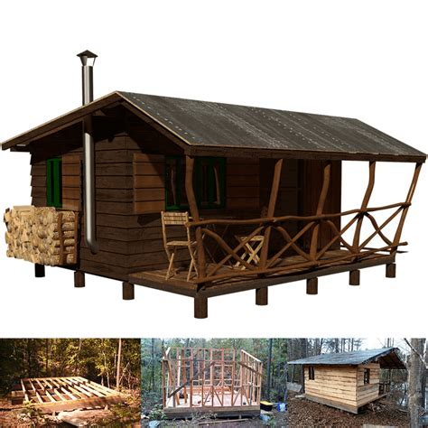 hunting shack floor plans simple small cabin plans