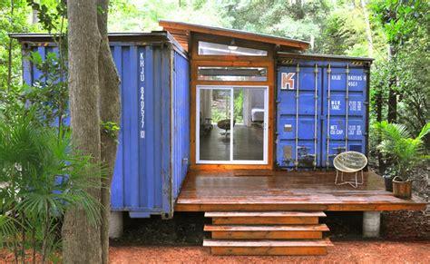 Diseño de casa reciclada hecha de contenedores [Fachada y diseño de interiores]   Construye Hogar