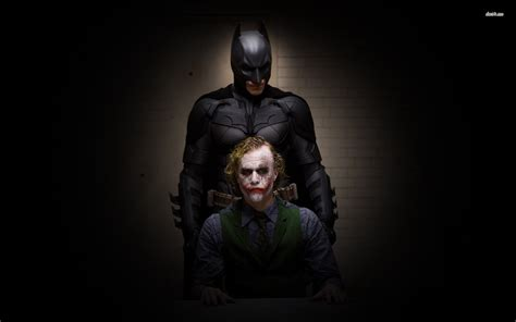 wallpaper joker batman dark knight batman and the joker the dark knight wallpaper