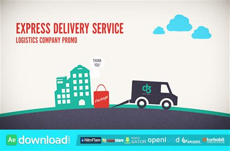 logistics company delivery promo after effects project