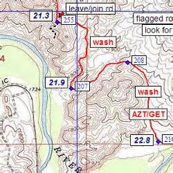 the arizona trail map arizona trail