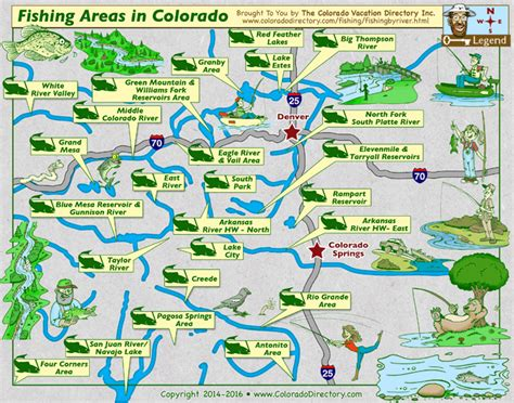 a map of colorado colorado fishing map lakes rivers co vacation directory