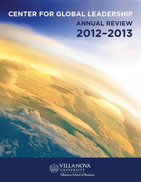 Of Global Mba Review by 2012 2013 Center For Global Leadership Annual Review By