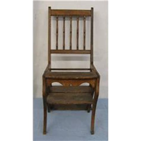 Oak Step Stool Chair by Fold Oak Chair Step Stool