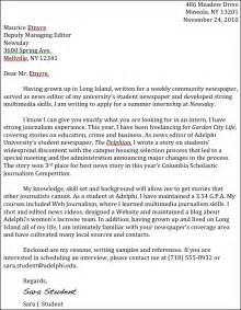 journalism internship cover letter journalism advice