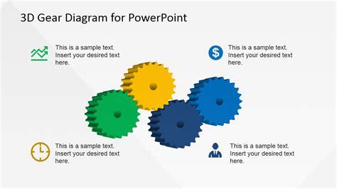 3d gear diagram template for powerpoint slidemodel