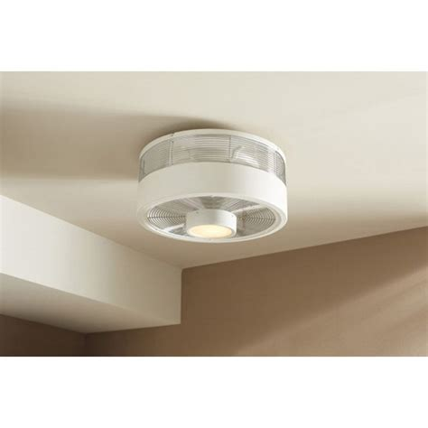 Beehive Ceiling Fan harbor hive series 18 in white indoor flush mount