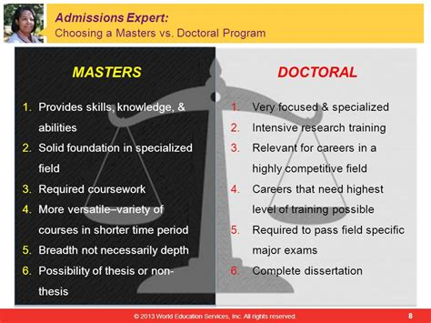 dissertation for masters degree choosing between master s vs doctoral programs work or